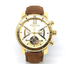 Relógio Bvlgari Couro Dourado E Marrom