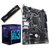 Combo Actualizacion Intel I3 8100 Quad + H310+ 8gb Ddr4 Fury