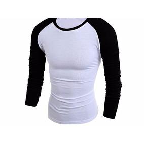 Kit 2 Camisa Camiseta Raglan Manga Longa Masculino Promoção. R  79 a73d652bcd4