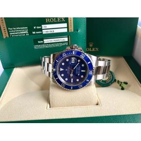 e790050ed27 Relogio Rolex Submariner Aço Ouro Fundo Azul Vidro Safira - Relógios ...