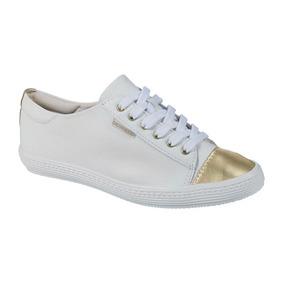 ac954614436 Tenis Bottero Dourado Vazado - Calçados