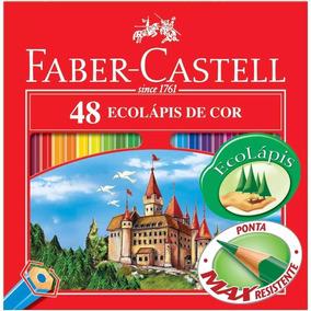 Lapis De Cor Faber Castell C/ 48 Cores E Um Apontador