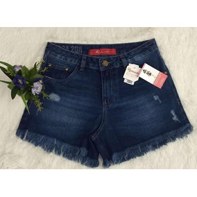 Shorts Jeans Feminino, Curto, Desfiado, Revanche, Tamanho 40