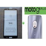 Película Vidro 5d Motorola Moto G6 Plus + P/ Vidro Camera