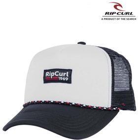 Gorra Rip Curl Stacked Blanco negro Trucker Unisex 7488 Cap b3607260871