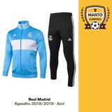 Agasalho Real Madrid 2018 2019 Azul 2 - Casaco + Calça 0697835dc5883