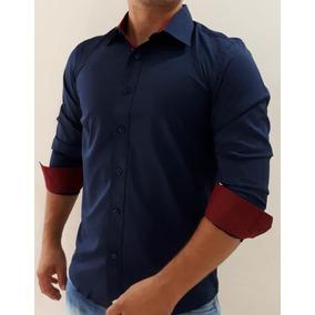 Camisa Torino Barata - Camisa Social Manga Longa Masculinas Azul no ... 5e00187b88518