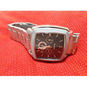 Relógio Original Fossil Prata Quadrado Aço Inoxidável
