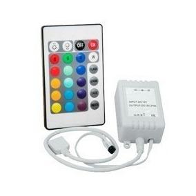Controlador + Controle 24 Teclas Fita Led Rgb 5050 E 3528