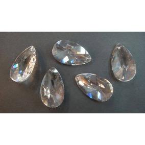 120 Almendras De Cristal Cortado 4.8 Cm Para Terminal Candil
