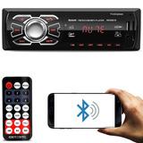Som Mp3 Automotivo Bluetooth Usb Sd Rádio Fm Controle Remoto