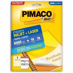 Etiqueta Ink-jet/laser Carta 279,4x215,9 6085 Pimaco Pt 10 U