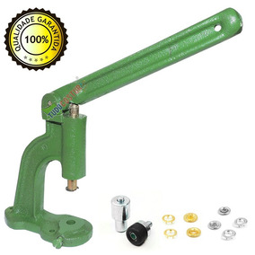 Maquina Balancim Pressão Pregar + Botões Metal Matriz 35 38