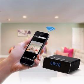 Relógio Espião Wi-fi Hd Monitoramento Real No Celular Ou Pc