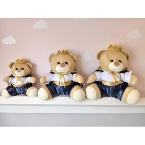 Trio Ursos De Pelucia Principe Para Nicho Várias Cores