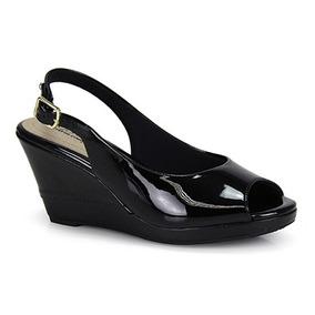 227e62e404 Sandalia Anabela Nude Verniz Confort Vel - Sapatos no Mercado Livre ...