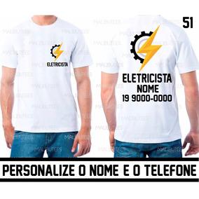 f12d339a49 Uniforme Eletrecista Camiseta Personalizada Com Nome Ref 51
