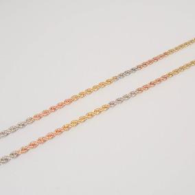 Corrente Em Ouro 18k Legítimo De 40cm Com Coração Tricolor - Colar ... 31fff9f8f7