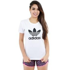 1bc5351f724 Camiseta Camisa Blusa Feminina De Marca Addiidas Verão