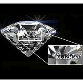 Diamante Certificado Láser0.45ct D Si1anillo Compromiso Oro