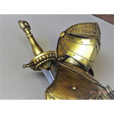 Armadura Medieval Italiana - Peitoral + Elmo + Espadas