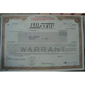 Apolice - P H L Corp, Inc1987 - Of Pennsylvania - Warrant