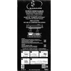Filtro Carbon Activado Turbo Power 1pz Negro Sanaire