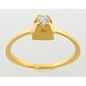 Anel Solitário Em Ouro Amarelo Com Brilhante De 4 Pontos - Joias e ... 3bc97cfb15