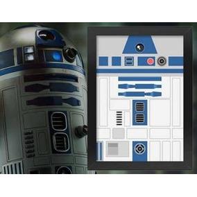 Poster Com Moldura Star Wars: R2d2