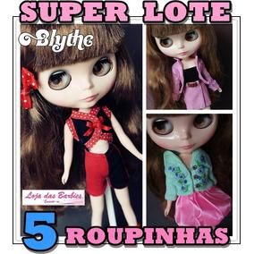 2c7813132b2 Super Kit 5 Roupinhas E Vestidos Para Boneca Blythe   Roupas. R  109