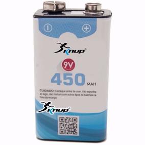 1 Baterias Recarregável 9v 450 Mah Knup Pilha