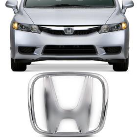 Emblema Honda Cromado Grade Dianteira New Civic 2007 A 2011