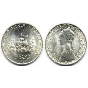 Numismática - Moeda De Prata Da Itália 500 Liras 1966