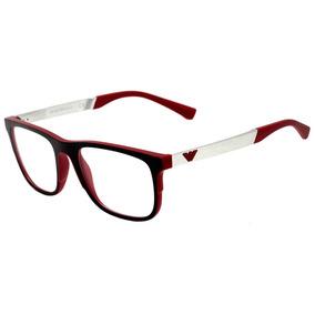 Emporio Armani Ea 3133 - Óculos De Grau 5665 Preto E Vermelh 662c013402
