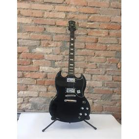 Guitarra Elétrica Epiphone G-400 Pro Black Outlet Pedaleira