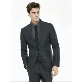 Terno Masculino Slim Fit Blazer E Calça Poliester