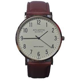 bfa359e6e0e Relogio Atlantis Pulseira De Couro - Joias e Relógios no Mercado ...