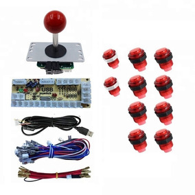 Kit Arcade Mame 1 Palanca 10 Botones Iluminados Raspberry