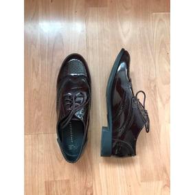 6f513775369 Zapatos De Dama Oxford Vino Charol Talla 6mx