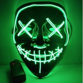 Máscara Luz Led La Purga Halloween The Purge Colores Calidad