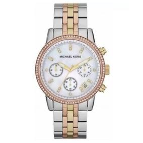 Relogio Michael Kors Mk 5650 Prata E Dourado - Relógio Michael Kors ... 8fedfcad2a