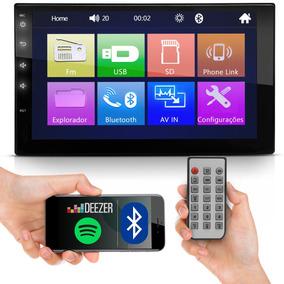 Central Multimídia Universal Mp5 2din Bluetooth Usb Fm Full
