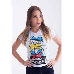 Camisa Pato Donald, Donald Duck Baby Look Camiseta Blusinha