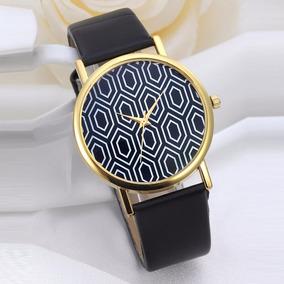 Relógio Vintage Preto, Branco E Dourado, Analógico!