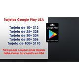 Tarjeta Google Play Store Varios Precios Envio Gratis