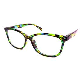 Armação De Óculos Gatinha Feminina Com Lentes Sem Grau 51121 436260a203