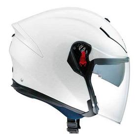 Capacete Agv K5 Jet Monocolor Branco Perolado Rs1
