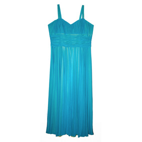 Vestidos de noche azul agua
