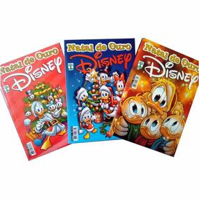 Kit 3 Gibis Natal De Ouro Disney 3,4 E 5
