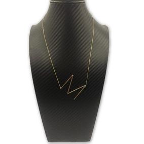 Colar Com A Primeira Letra Do Nome - Corrente de Ouro Feminino no ... a24b617685